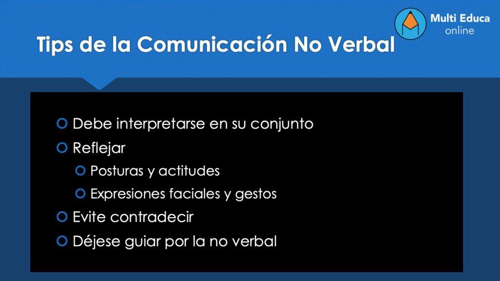 Tips de la Comunicación No Verbal