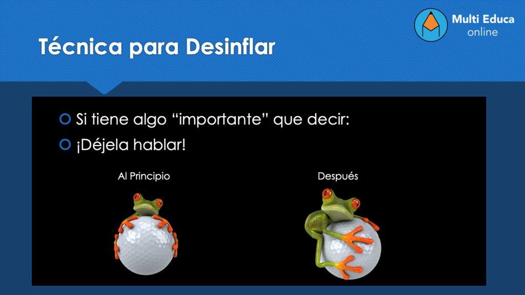 Técnica para Desinflar